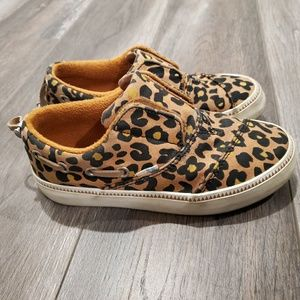 Girls Size 12.5 Toffee Cheepard Toms